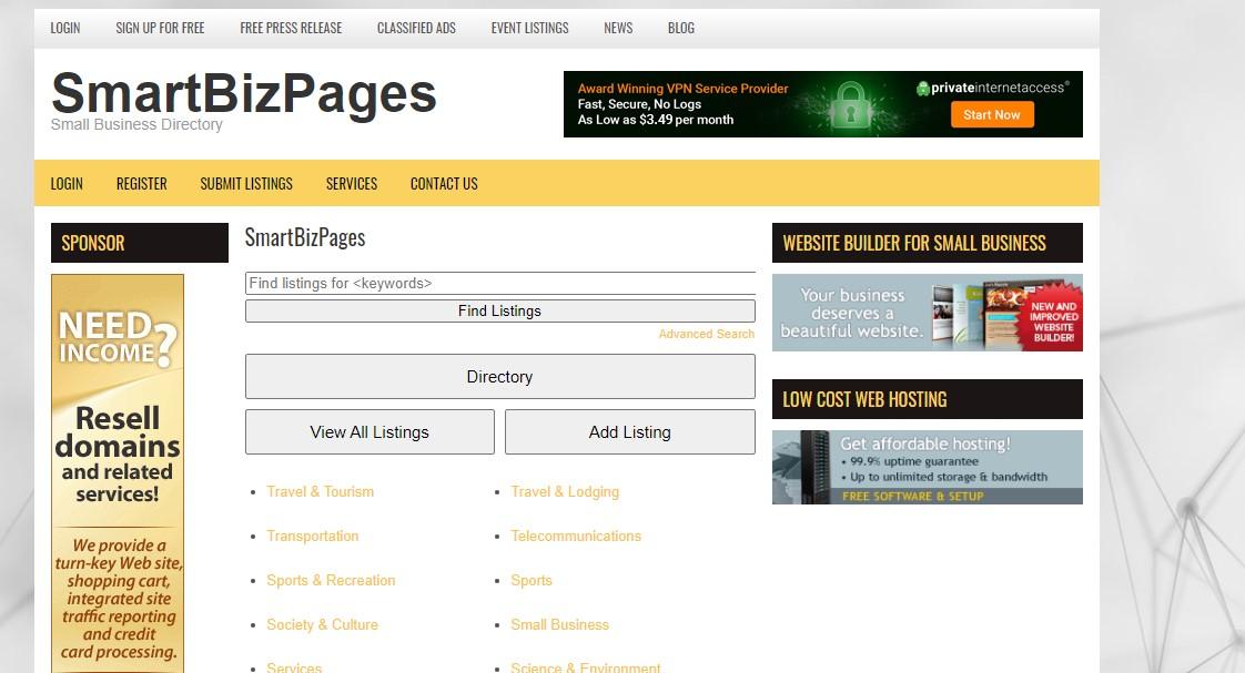 Smart biz pages