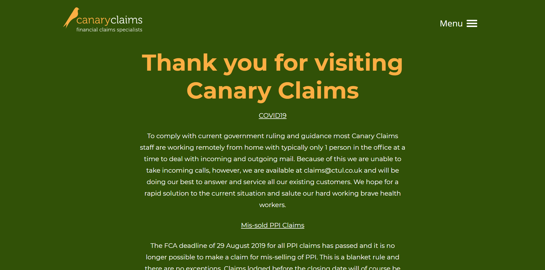 Canary Claims
