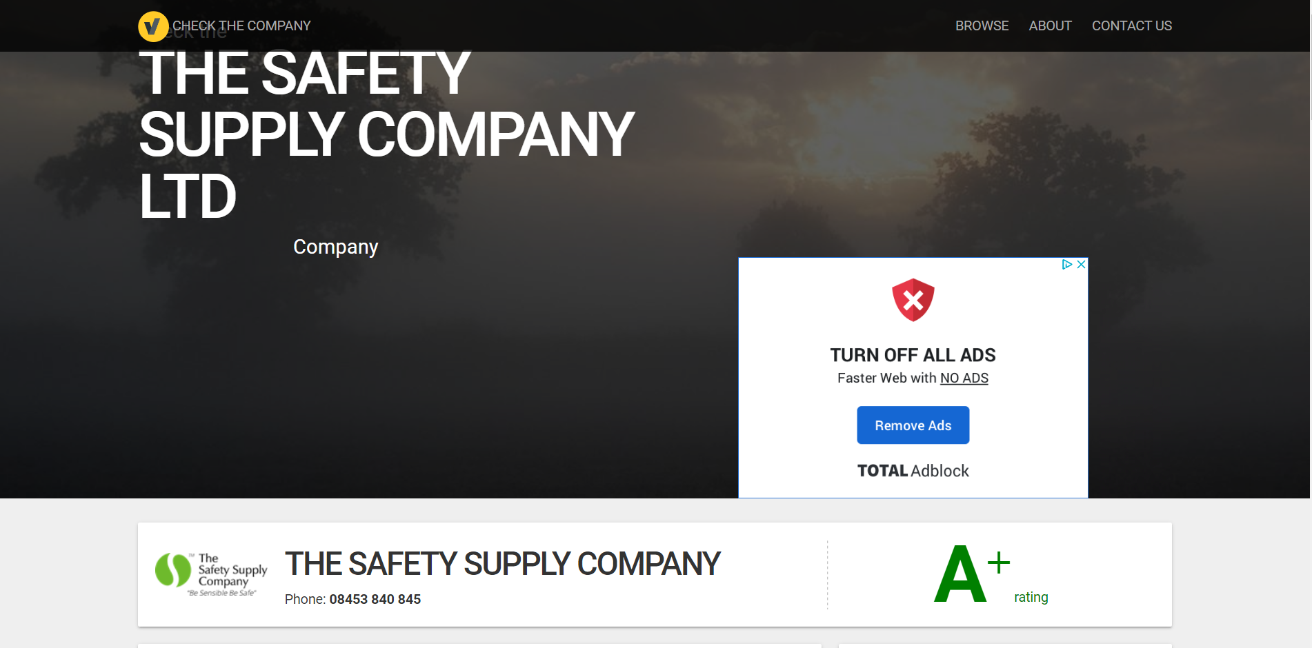 Check the company
