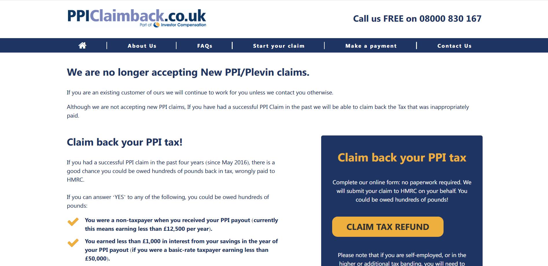PPI Claim Back