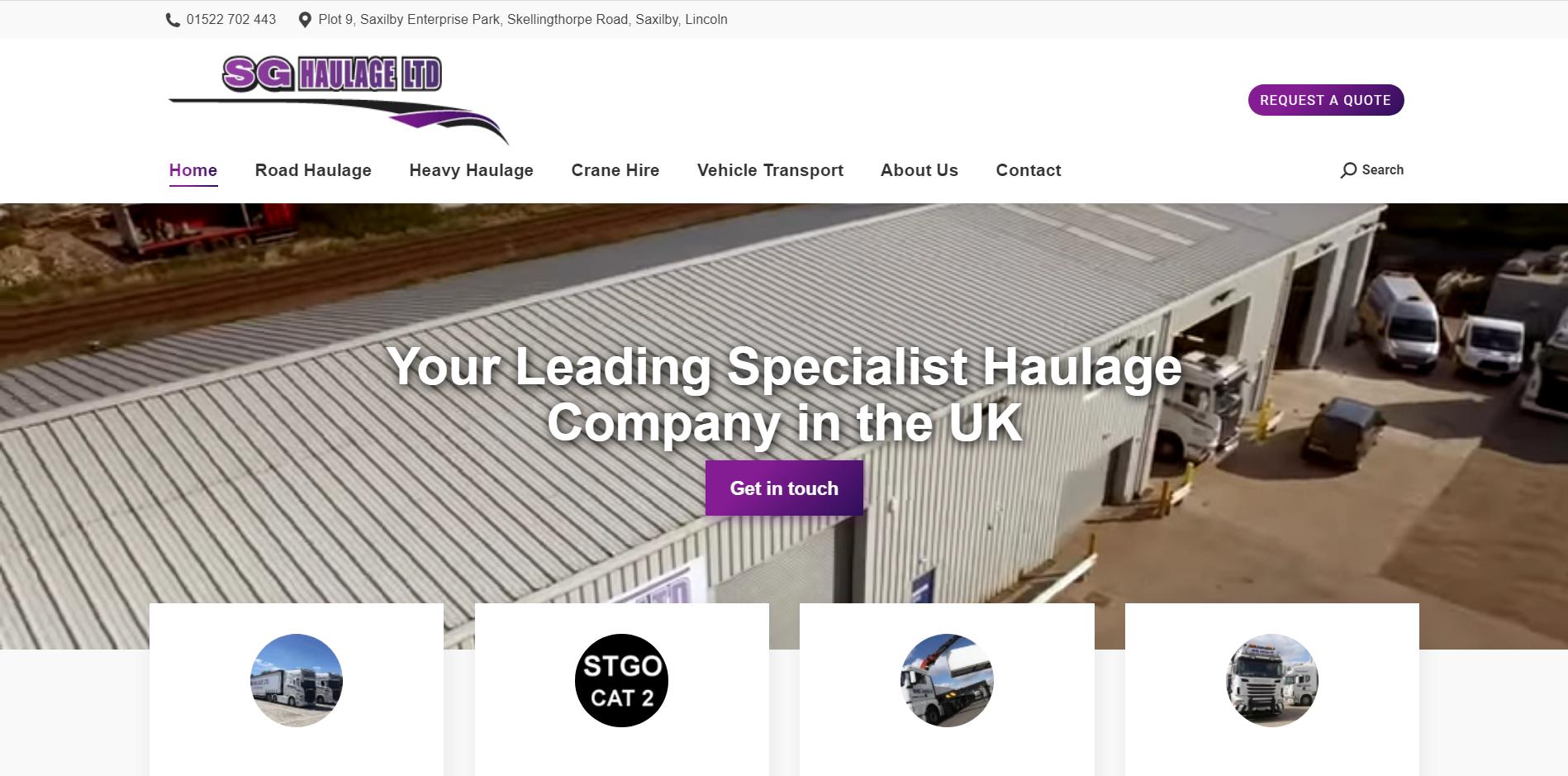 SG Haulage Ltd