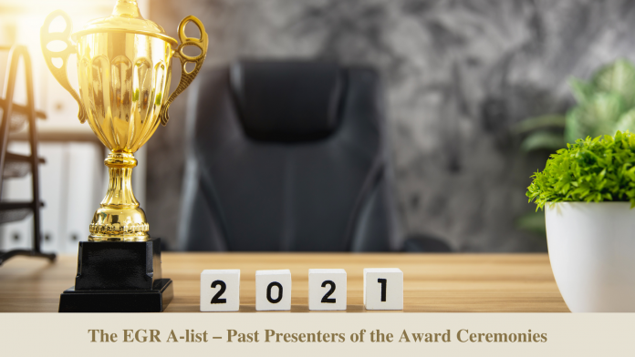 The EGR A-list – past presenters of the award ceremonies