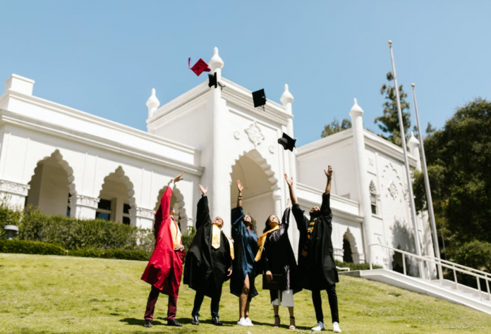 Take a look at a simulated graduation ceremony