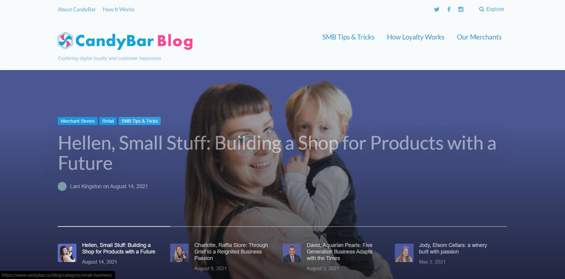 CandyBar Blog