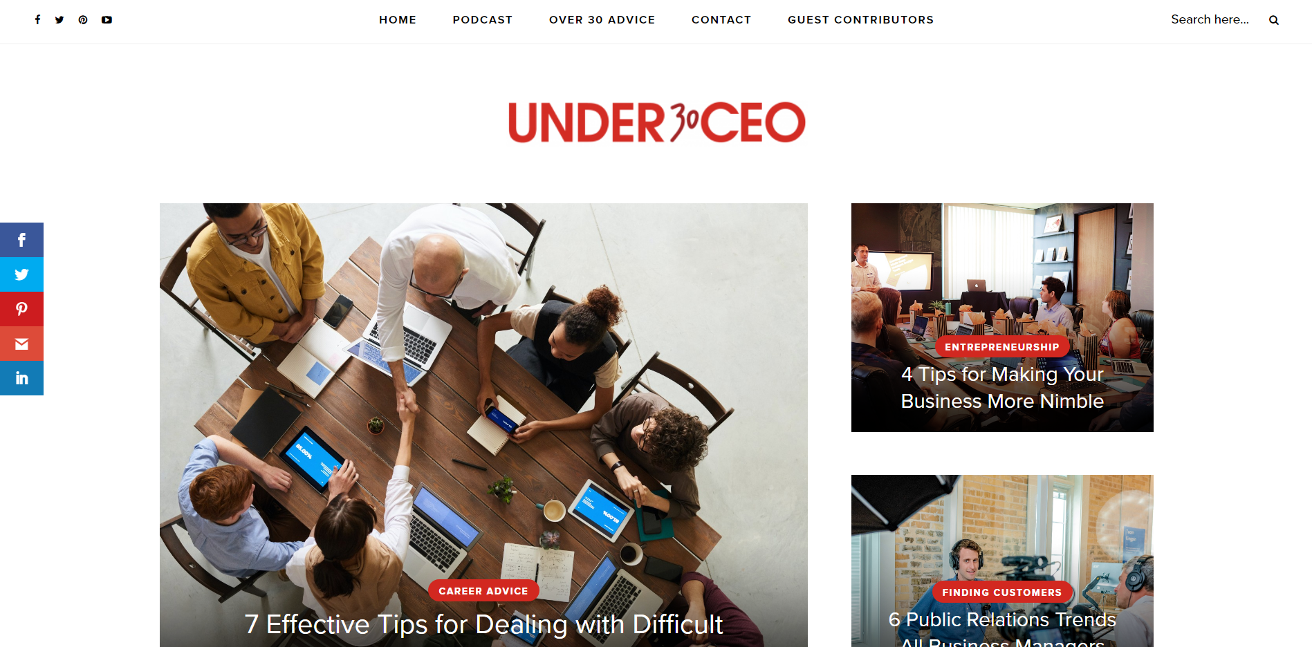 Under 30 CEO